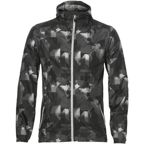 asics fuzeX Packable Jacket Herre paint geo dark grey